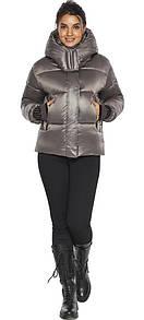 Куртка женская капучиновая с трикотажными манжетами модель
