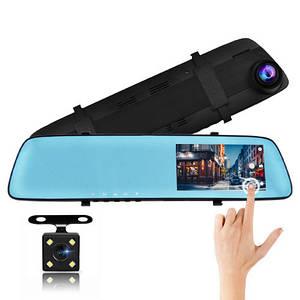 Автомобільний відеореєстратор дзеркало дисплей DVR L-9003 Авто двокамерний реєстратор у машину Full HD 1080p