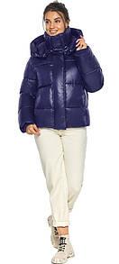 Куртка с капюшоном женская синяя модель