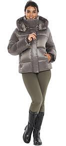 Куртка с манжетами капучиновая женская модель