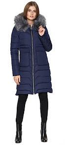 Синяя куртка женская с накладными карманами L