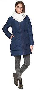 Зимняя модель теплой женской курточки в синем цвете 44 (XS) 46 (S)
