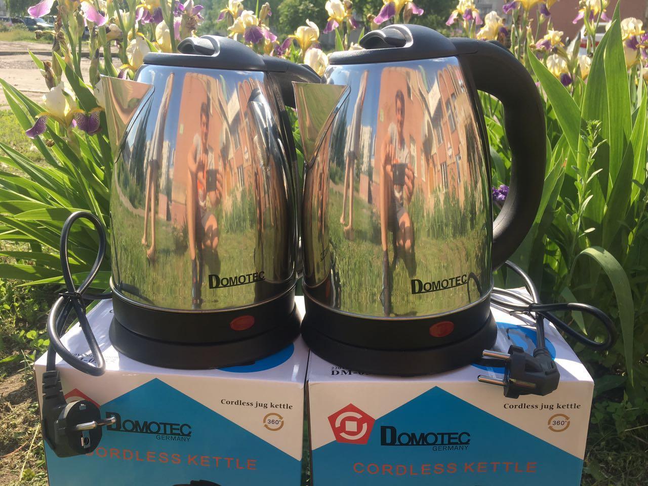 Електричний чайник Domotec (2л) DM-0555, металевий чайник, швидкий нагрів