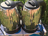 Електричний чайник Domotec (2л) DM-0555, металевий чайник, швидкий нагрів, фото 6