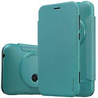 Кожаный чехол Nillkin Sparkle для ASUS ZenFone Zoom (ZX550) голубой