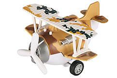 Літак металевий інерційний коричневий