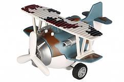 Літак металевий інерційний синій