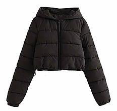 Жіноча куртка, плащівка Канада, р-р 42-44; 44-46 (чорний)