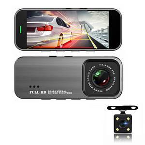 Автомобільний відеореєстратор Full HD 701 DVR 2 камери для авто WiFi реєстратор машину з монітором записом