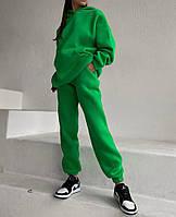 Женский теплый спортивный костюм на флисе с объемной кофтой с капюшоном (Норма), фото 3