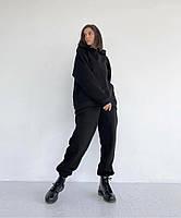 Женский теплый спортивный костюм на флисе с объемной кофтой с капюшоном (Норма), фото 7
