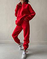 Женский теплый спортивный костюм на флисе с объемной кофтой с капюшоном (Норма), фото 8
