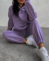 Женский теплый спортивный костюм на флисе с объемной кофтой с капюшоном (Норма), фото 10