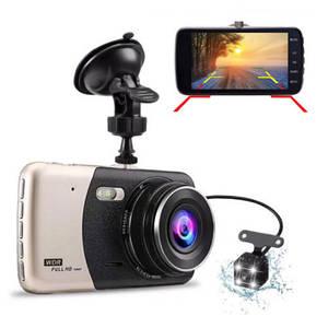 Автомобільний відеореєстратор Full HD X600 DVR 2 камери для реєстратор парктронік в машину з записом 1080р