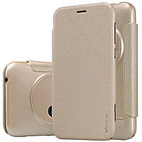 Кожаный чехол Nillkin Sparkle для ASUS ZenFone Zoom (ZX550) золотистый