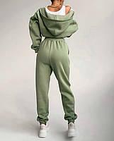 Женский спортивный костюм из трехнити на флисе с удлиненной кофтой на флисе (Норма), фото 4