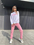 Жіночий костюм, трехнить на флісі, р-р 42-44; 44-46 (рожевий), фото 3