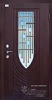 Двери стальные в частный дом с ковкой и стеклом ТМ Абвер модель Letizia код: 77