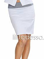 Юбка комбинированная белый, фото 1