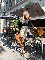 """Юбка женская замш на дайвинге р.42-48(2цв) """"BARBARIS"""" недорого от прямого поставщика"""