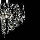 Хрустальная люстра на 4 лампы белая с хромом СветМира VL-L8651/4 (CR), фото 2