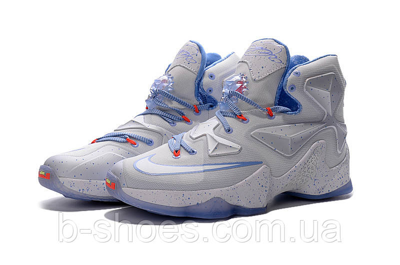 Мужские баскетбольные кроссовки Nike Lebron 13 (White/Blue)