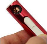Электро спиральная зажигалка с зарядкой от USB Электронная Зажигалка G-01, фото 6