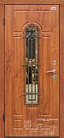 Двери входные в дом с ковкой и стеклом ТМ Абвер модель Artemida код: 79