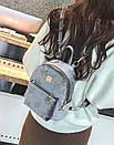 Сумка рюкзак маленький женский цвет серый, фото 3