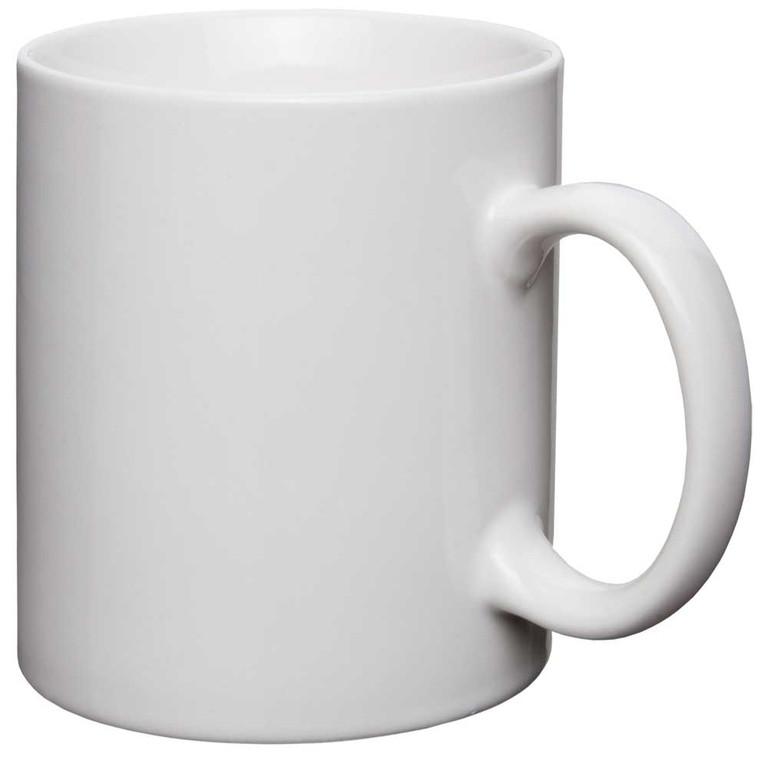 Чашка сублимационная белая Матовая 330 мл