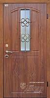 Двери металлические с ковкой и стеклом ТМ Абвер модель Alegra (K12) код: 86