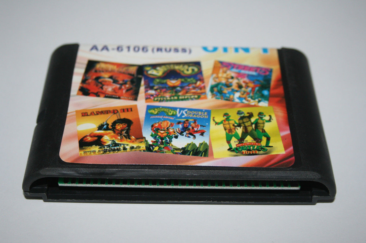 Картридж для Sega 6в1 Battletoads, Streets of Rage