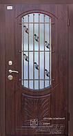 Двери на улицу входные со стеклом ТМ Абвер модель Aleandra (K10) код: 89