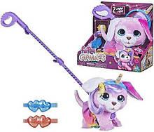 Интерактивная игрушка гламурный щенок на поводке, ходит, гавкает FurReal Friends, Hasbro