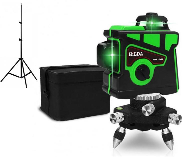 Лазерный нивелир HILDA 3D 3x360° + ШТАТИВ 2 МЕТРА