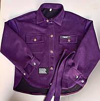 """Рубашка подростковая замшевая с поясом на девочку 134-158 см (3цв) """"VANILLA"""" недорого от прямого поставщика"""