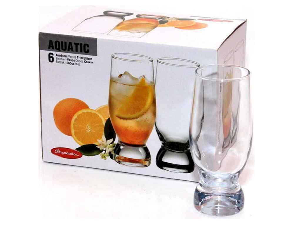 Набір склянок 6шт*265мл AQUATIC 42978 ТМ PASABAHCE