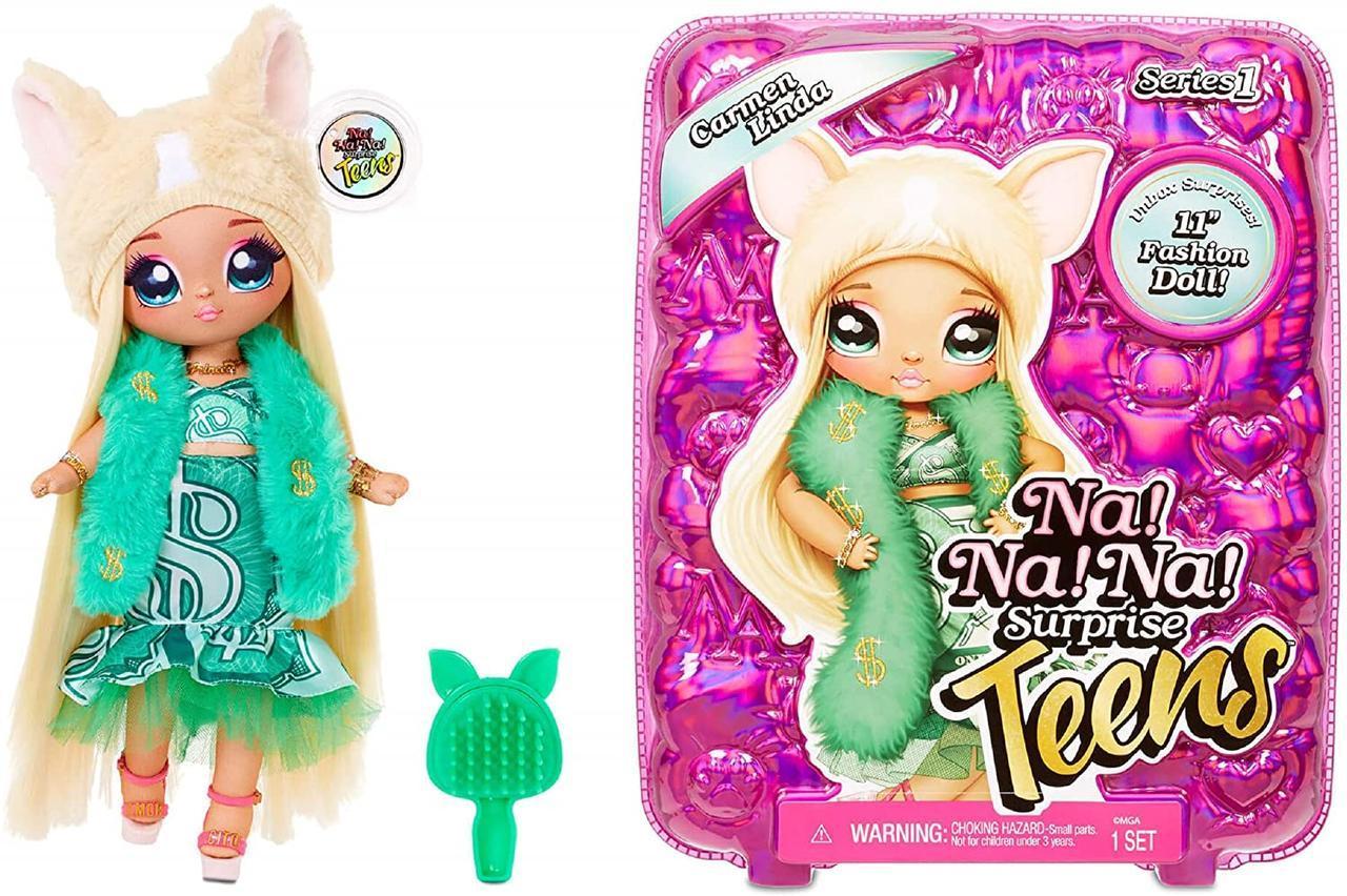 Большая кукла На На На Сюрприз Кармен Линда 28см Na Na Na Surprise серии Teens Оригинал из США