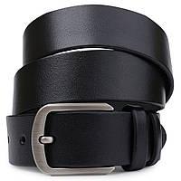 Стильний шкіряний ремінь для чоловіків Vintage 20725 Чорний, фото 1