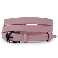 Тонкий ремінь з натуральної шкіри Vintage 20761 Рожевий, фото 1
