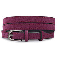 Жіночий тонкий ремінь замшевий Vintage 20774 Фіолетовий, фото 1