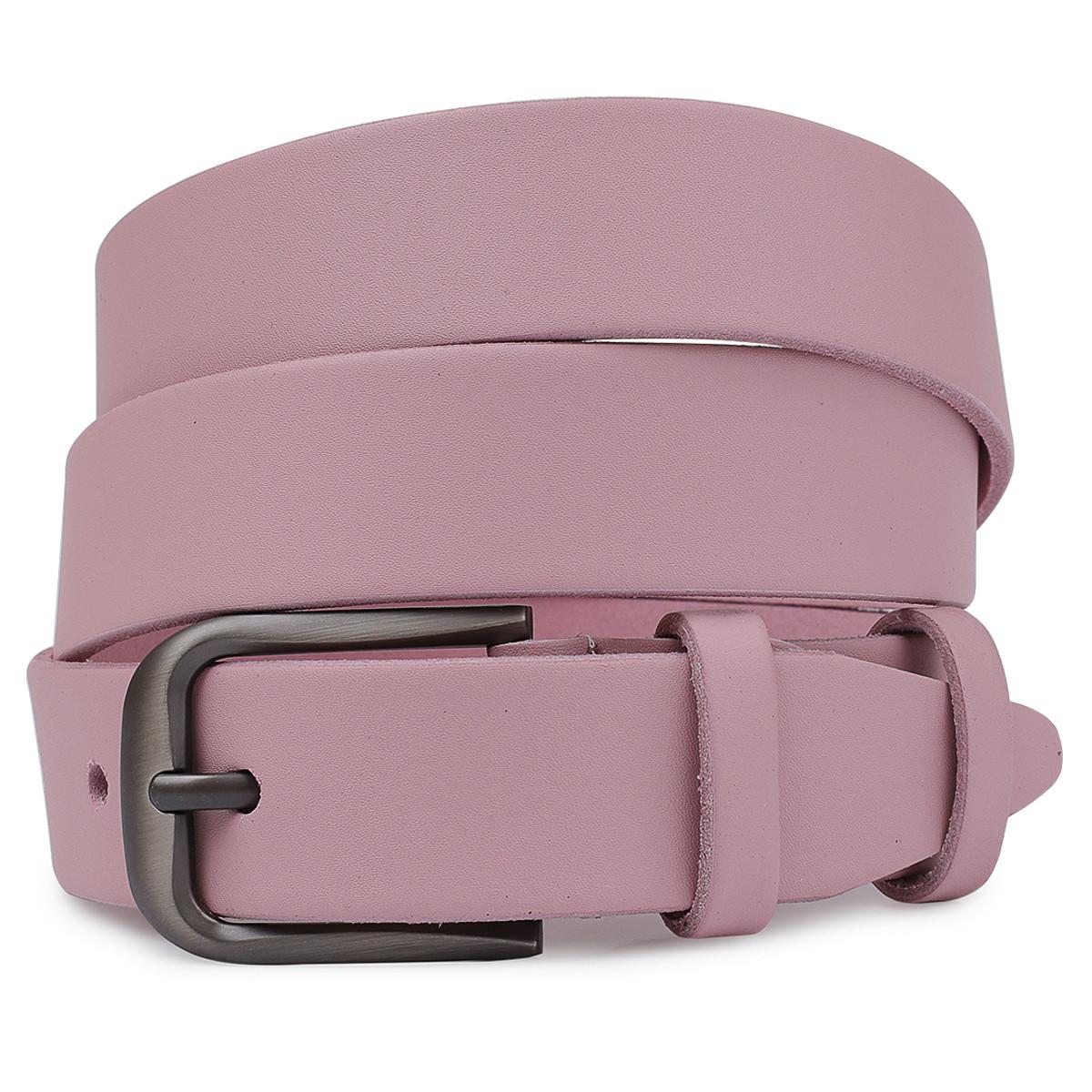 Жіночий шкіряний ремінь Vintage 20778 Рожевий