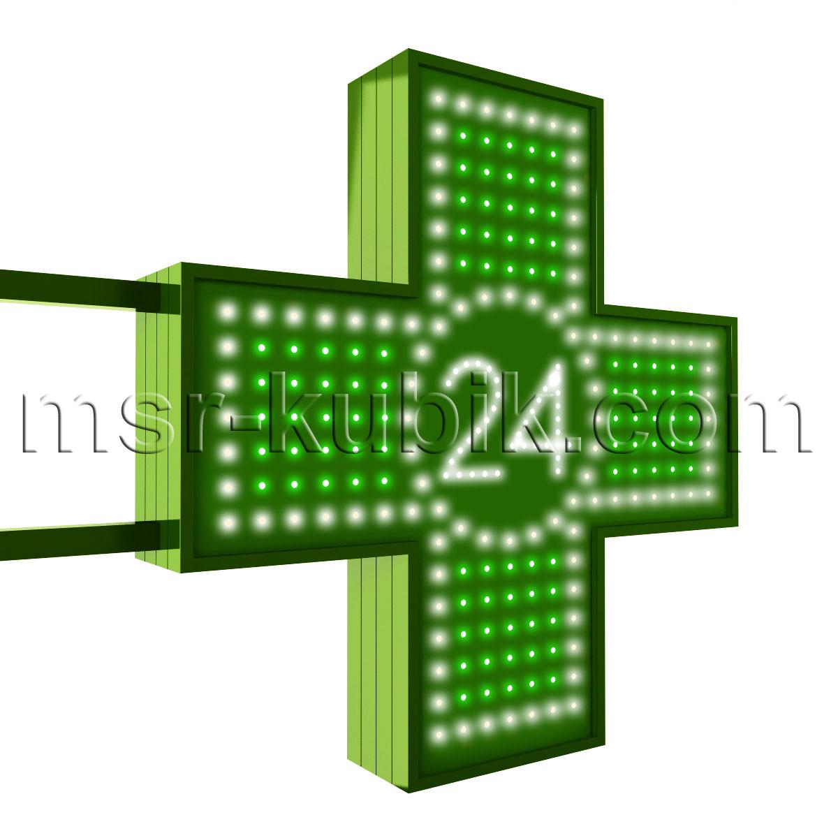 """Аптечний хрест 600х600 світлодіодний двосторонній. Серія """"Twenty-Four"""""""