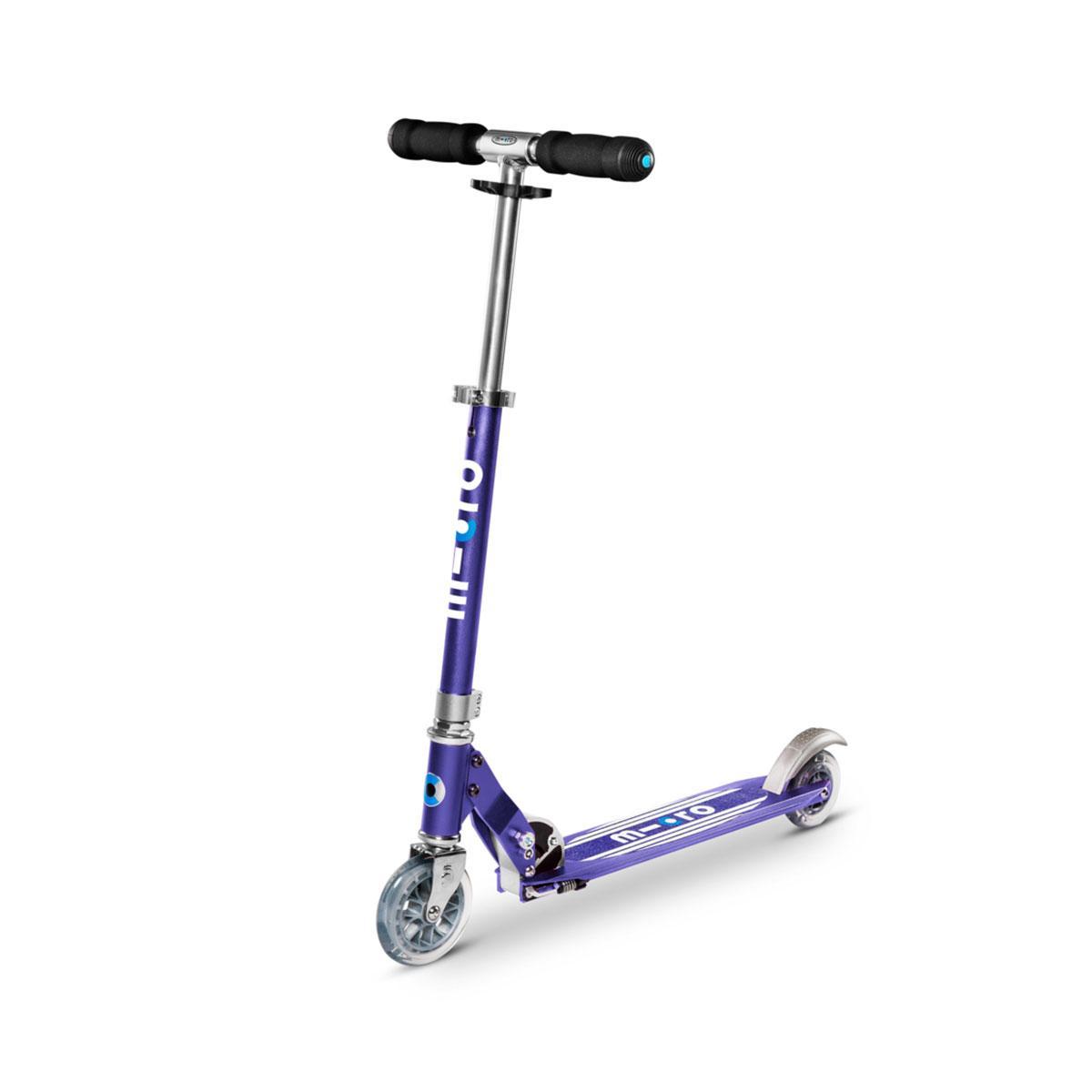 """Самокат Micro серії """"Sprite Special Edition"""""""" – Синій (дека в смужку, до 100 kg, 2-х колісний)"""