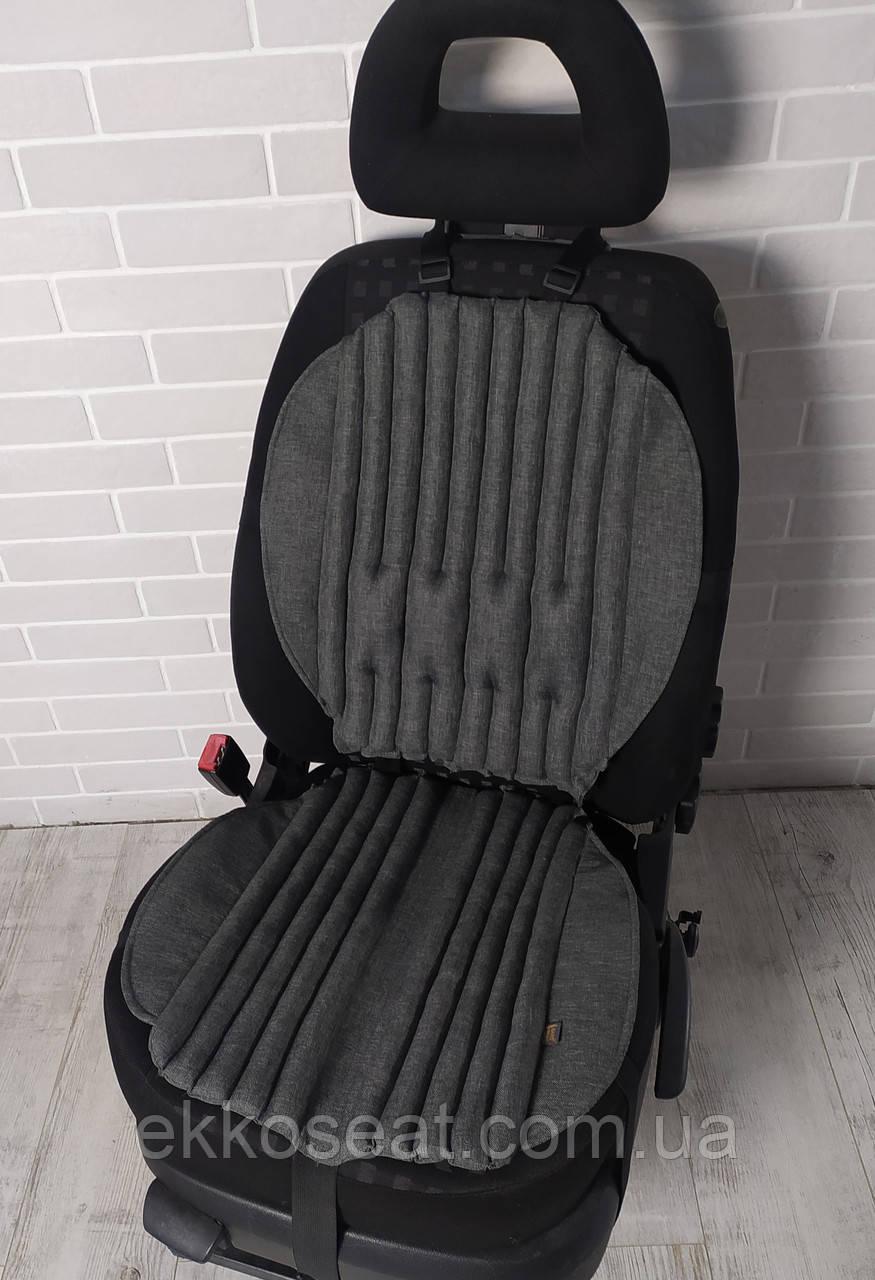 Чохли для сидінь автомобіля, ортопедичні з ефектом овчини. Чорні, Сірі, Беж. EKKOSEAT. Комплект 2.