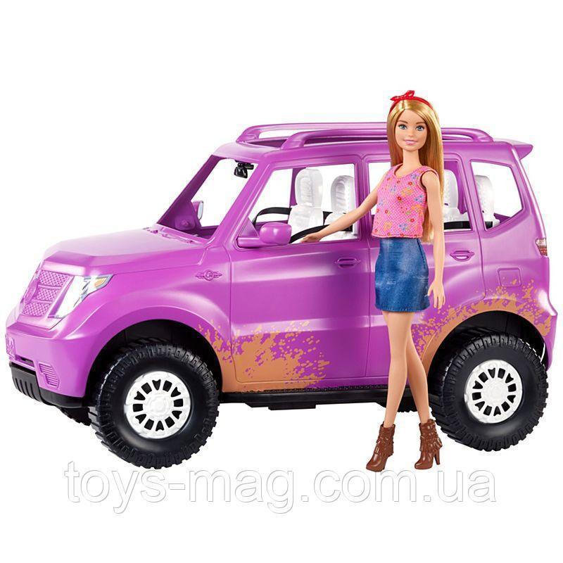 Ігровий набір Лялька Барбі з джипом на фермі Barbie Sweet Orchard Farm Barbie Doll & Vehicle GHT18