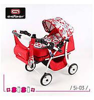 Дитяча коляска для ляльок SiSi  від відомого польського виробника Adbor, фото 1