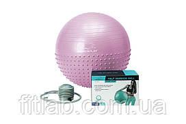 М'яч для фітнесу PowerPlay 4003 65 см Ліловий + насос