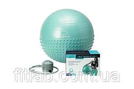 М'яч для фітнесу PowerPlay 4003 65см Зелений + насос