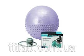 М'яч для фітнесу PowerPlay 4003 75см Sky Blue + помпа